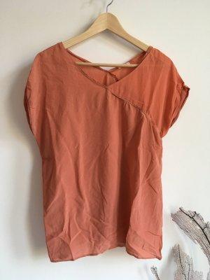 American Vintage Shirt salmon-apricot silk