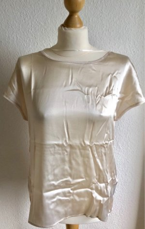 Hallhuber Silk Top cream silk