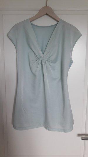 Riani V-hals shirt babyblauw Zijde