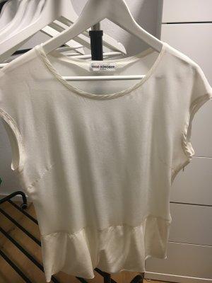 Trixi Schober Top de seda blanco puro-blanco