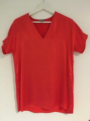 COS V-hals shirt veelkleurig Zijde