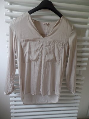 Zijden blouse licht beige Zijde