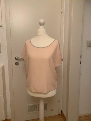 Sophie Blusa de seda rosa-gris claro