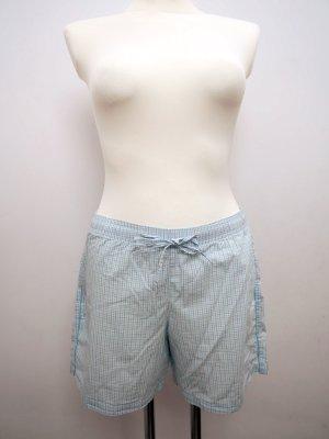 SEIDENSTICKER: 38 * Schlaf Shorts * Pyjama Hose * Baumwolle * kariert