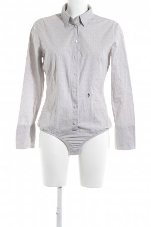 Seidensticker Bodysuit Blouse natural white-beige spot pattern business style