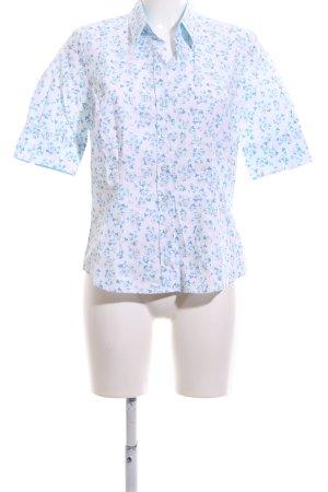 Seidensticker Hemd-Bluse blau-weiß Allover-Druck Business-Look