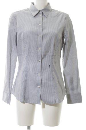 Seidensticker Hemd-Bluse weiß-blau Blumenmuster Elegant