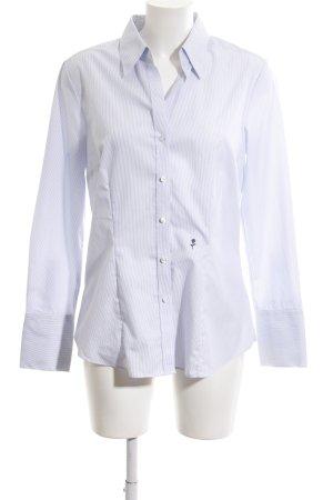 Seidensticker Hemd-Bluse weiß-lila Streifenmuster Business-Look