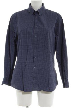 Seidensticker Hemd-Bluse blau grafisches Muster Business-Look