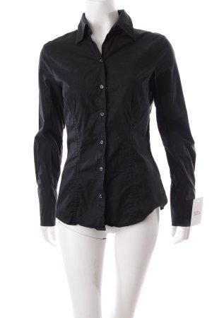 Seidensticker Hemd-Bluse schwarz minimalistischer Stil