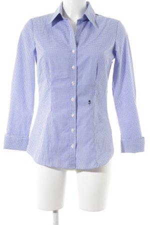 Seidensticker Hemd-Bluse stahlblau-weiß Karomuster Casual-Look