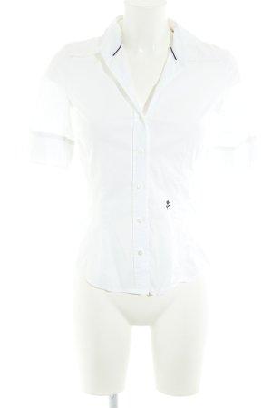 Seidensticker Hemd-Bluse weiß-dunkelblau Business-Look