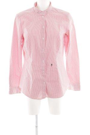 Seidensticker Hemd-Bluse weiß-hellrot Streifenmuster klassischer Stil