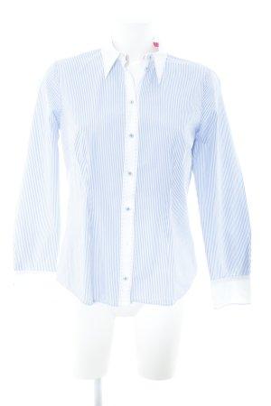 Seidensticker Hemd-Bluse weiß-himmelblau Streifenmuster Business-Look