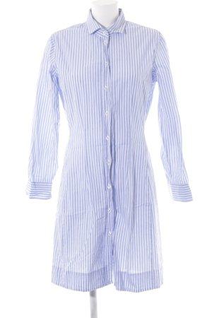 Seidensticker Hemdblusenkleid himmelblau-weiß Streifenmuster Business-Look