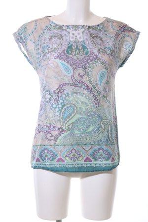 Seidensticker Kurzarm-Bluse abstraktes Muster Casual-Look