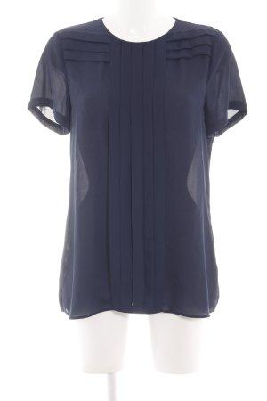 Seidensticker Kurzarm-Bluse blau Business-Look