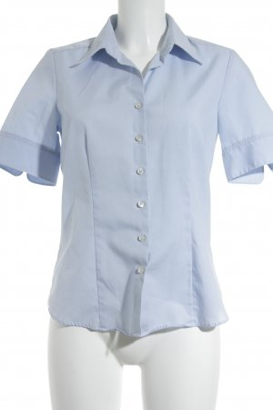 Seidensticker Kurzarm-Bluse hellblau