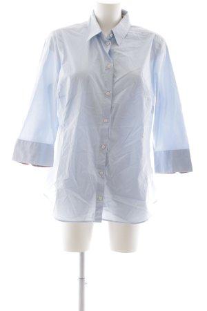 Seidensticker Kurzarm-Bluse himmelblau-rosa Business-Look