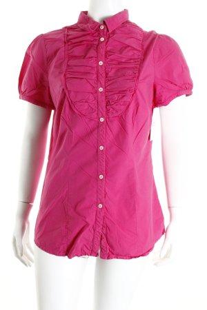 Seidensticker Kurzarm-Bluse pink Casual-Look
