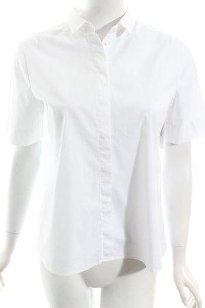Seidensticker Kurzarm-Bluse weiß klassischer Stil