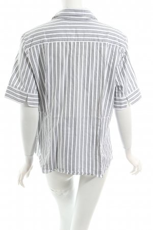 Seidensticker Kurzarm-Bluse weiß-schwarz Streifenmuster Casual-Look
