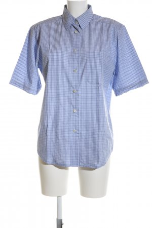 Seidensticker Short Sleeve Shirt blue allover print business style