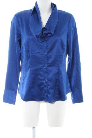 Seidensticker Langarm-Bluse blau Business-Look