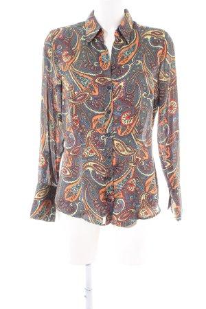 Seidensticker Langarm-Bluse grafisches Muster Casual-Look