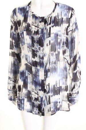 Seidensticker Langarm-Bluse abstraktes Muster klassischer Stil