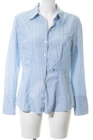 Seidensticker Langarm-Bluse blau-weiß Streifenmuster Business-Look