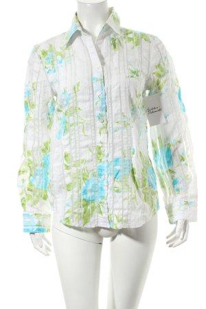 Seidensticker Langarm-Bluse florales Muster Casual-Look