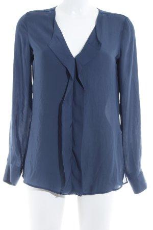 Seidensticker Langarm-Bluse graublau schlichter Stil