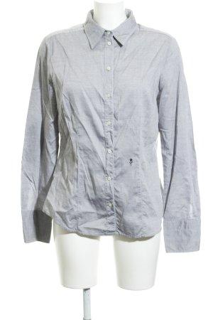 Seidensticker Langarm-Bluse hellgrau meliert Business-Look