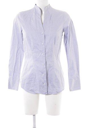 Seidensticker Langarm-Bluse himmelblau-kornblumenblau Punktemuster Business-Look