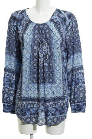 Seidensticker Langarm-Bluse Mustermix schlichter Stil