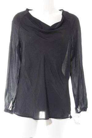 Seidensticker Langarm-Bluse schwarz Elegant