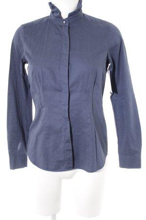 Seidensticker Langarm-Bluse weiß-blau Punktemuster Casual-Look
