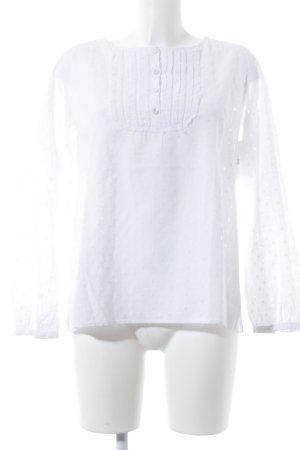 Seidensticker Langarm-Bluse weiß florales Muster Romantik-Look