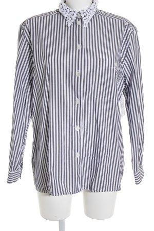 Seidensticker Langarm-Bluse weiß-grau Streifenmuster Casual-Look