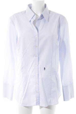 Seidensticker Langarm-Bluse weiß-kornblumenblau Streifenmuster Business-Look