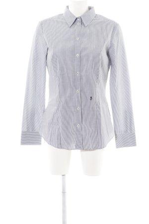 Seidensticker Langarmhemd weiß-hellgrau Streifenmuster Business-Look