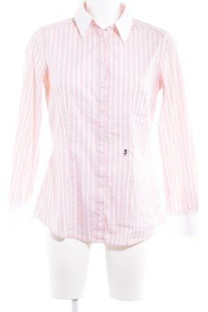Seidensticker Langarmhemd altrosa-weiß Streifenmuster klassischer Stil