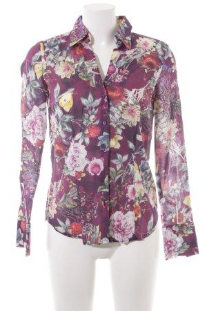 Seidensticker Langarmhemd Blumenmuster extravaganter Stil