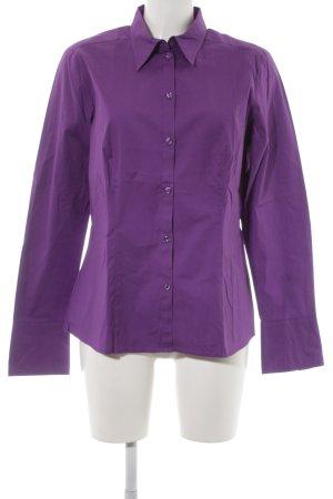 Seidensticker Camisa de manga larga violeta oscuro estilo «business»