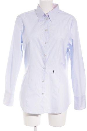 Seidensticker Langarmhemd himmelblau-hellrosa Streifenmuster klassischer Stil