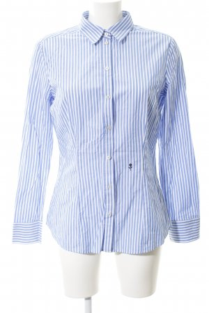 Seidensticker Langarmhemd himmelblau-wollweiß Streifenmuster Casual-Look