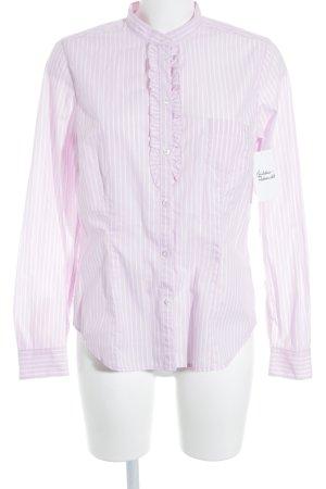 Seidensticker Langarmhemd rosa-weiß Streifenmuster klassischer Stil