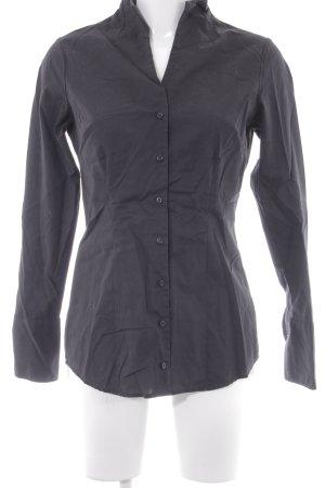 Seidensticker Camicia a maniche lunghe nero stile minimalista
