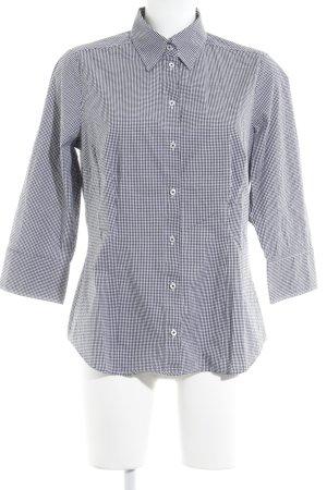 Seidensticker Langarmhemd schwarz-weiß Vichykaromuster Business-Look
